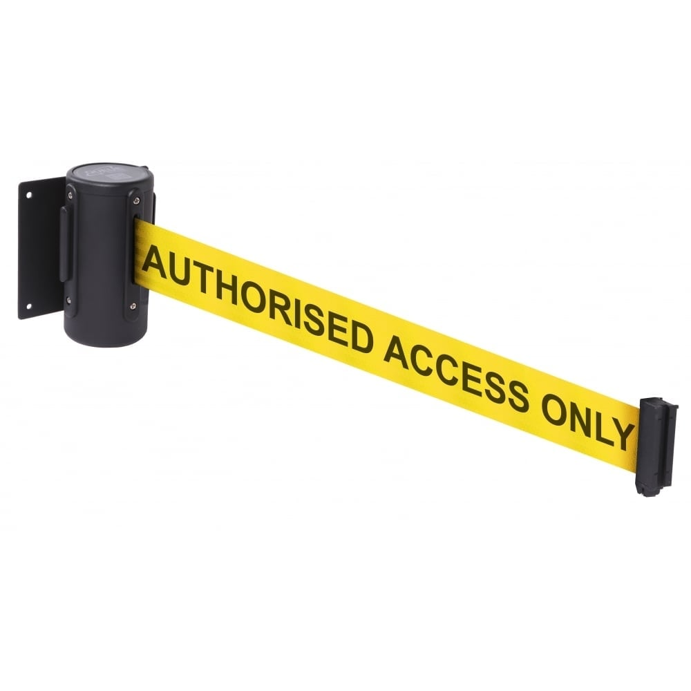 wall-mounted retractable belt barriers